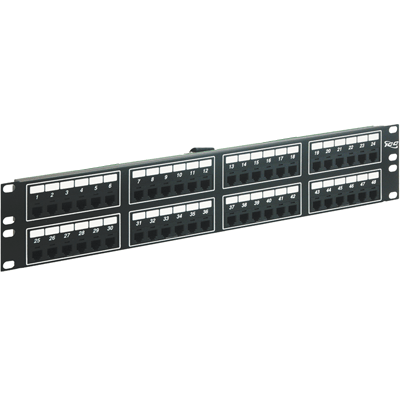 Voice 8P4C Patch Panel with Male Telco in 48 Ports and 2 RMS