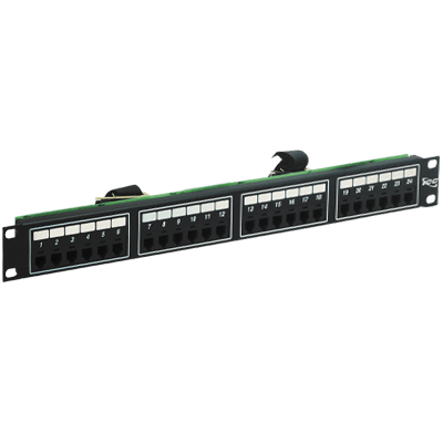 Voice 6P4C Patch Panel with Male Telco in 24 Ports and 1 RMS