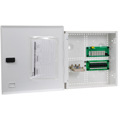 """14"""" Wiring Enclosure Combo with Voice, Data and Video"""