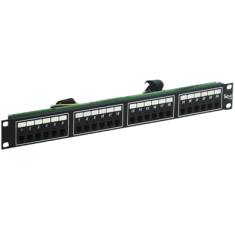 Voice 8P4C Patch Panel with Female Telco in 24 Ports and 1 RMS