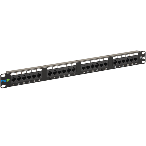 CAT 5e Patch Panel with 24 Ports and 1 RMS
