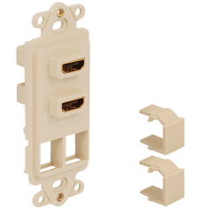 Decorex Insert with 2 HDMI Connectors and 2 Ports for HD Style