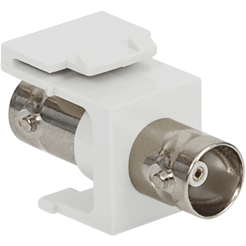 BNC Keystone Jack for 75 Ohm with Nickel Plated Connector for HD Style