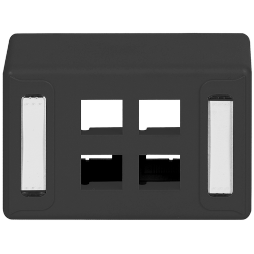 Furniture Universal Faceplate with 4 Ports for EZ/HD Style