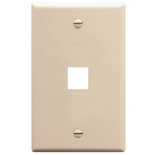 Classic Oversized Faceplate with 1 Port in Single Gang