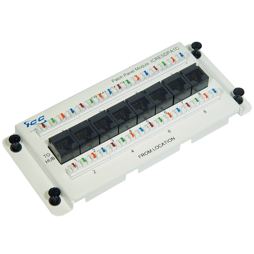 Residential Data Module, CAT 5e with 8 Ports
