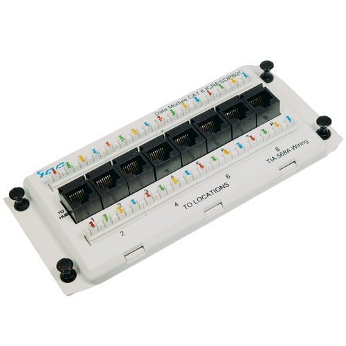 Data Module Deluxe Series CAT 6 with 8 Ports