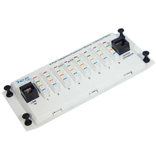 Telephone Expansion Module with Plastic Bracket and 8 Ports