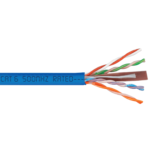 500Mhz CAT6 Bulk Cable with 23 AWG UTP Solid Wires, CMP Jacket in ...
