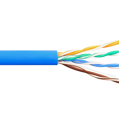 350Mhz CAT 5e Bulk Cable With 24 AWG UTP Solid Wires CMR Jacket In A