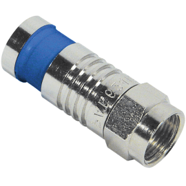 F-Type Compression Connector for RG6Q Cable in 100 Pack