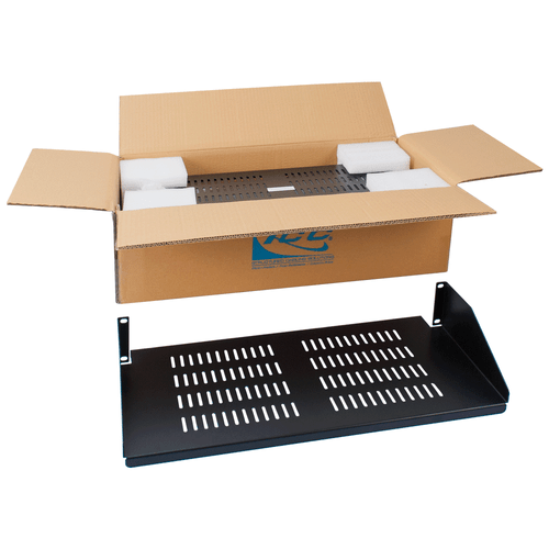 "10"" Single Sided Rack Shelf Vented with 2 RMS in 2 Pack"