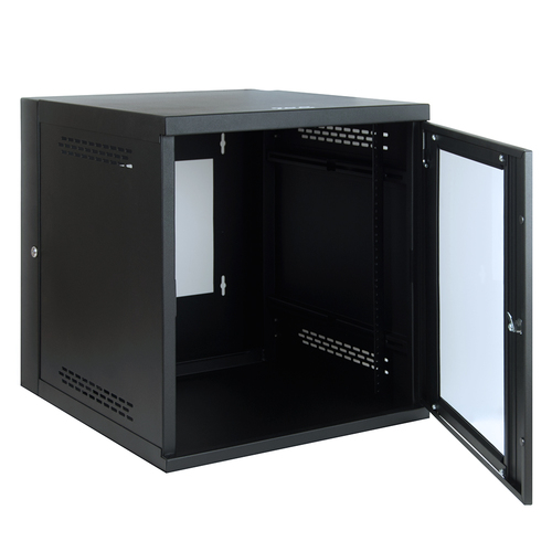 Wall Mount Server Cabinet with Plexiglass Door in 12 RMS
