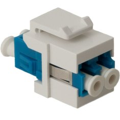LC Fiber Optic Keystone Coupler with Ceramic Sleeves and Duplex Ports