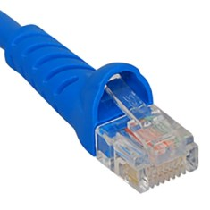 CAT6 Molded Boot Patch Cord in Blue