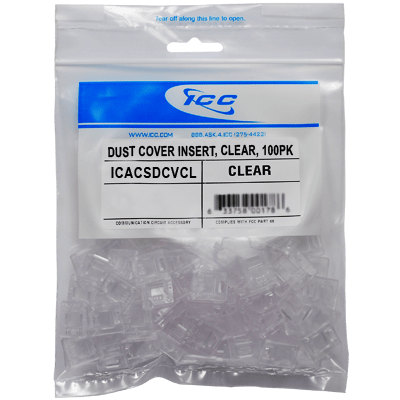 Dust Cover Insert Clear in 100 Pack
