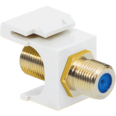 F-Type Keystone Jack with 3 GHz Gold Plated Connector for HD Style
