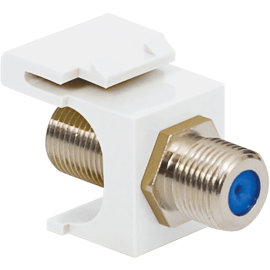F-Type Keystone Jack with 3 GHz Nickel Plated Connector for HD Style