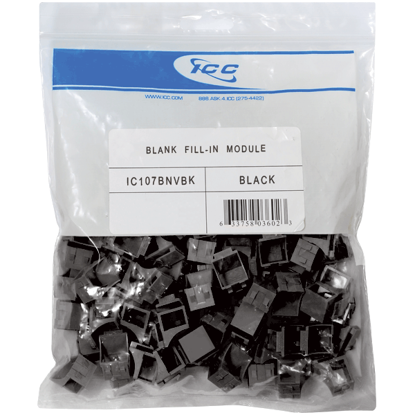 Blank Fill-in Port Insert for HD Style in 100-Pack