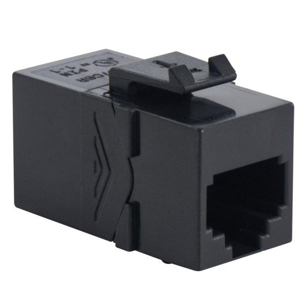 Voice RJ45 Keystone Coupler Pin 1-1 HD Style IC107C6RBK