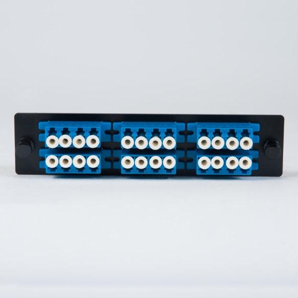 LGX Adapter Panel 6 Quad LC Blue Front ICFOPL1619