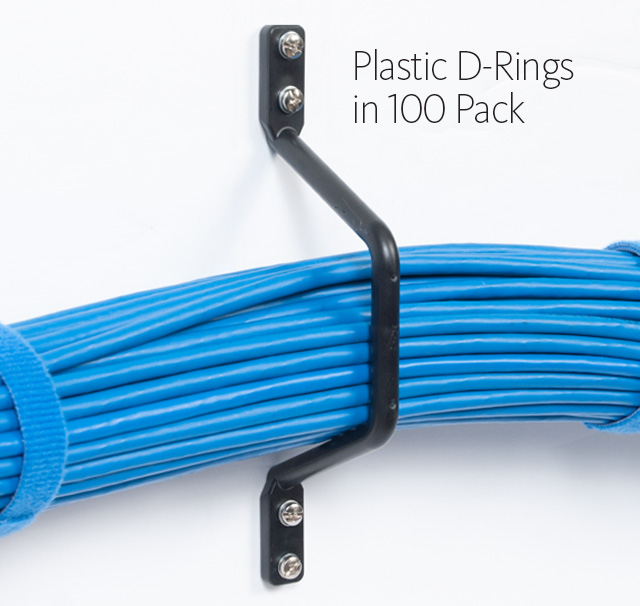 Plastic D-Rings to Wall in 100 Pack