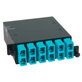 icfc12mchg-sc-mpo-fiber-optic-hd-cassette-aqua-multimode-adapters-12-10g-om3-fibers-1000