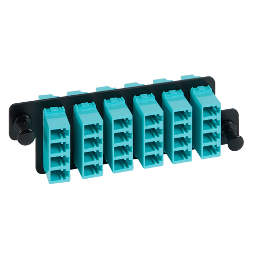 ICFOPL16HG LC LC Fiber Optic HD Adapter Panel Aqua Multimode Adapters 24 10G Fibers