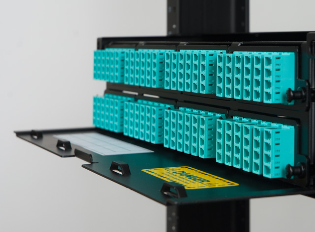 Image of High Density Fiber Optic Enclosure with 8 Panels and 2 RMS