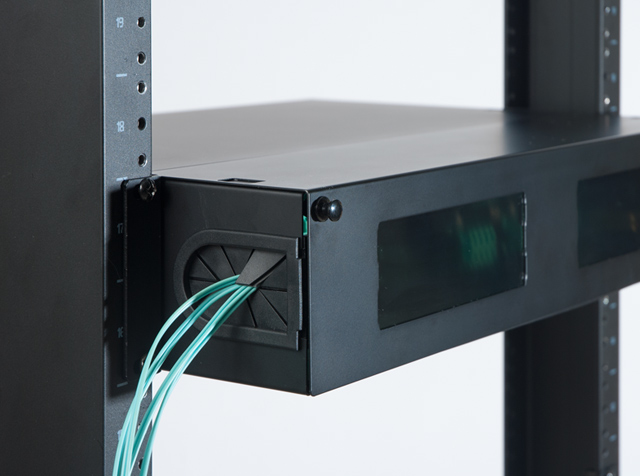Image of High Density Fiber Optic Enclosure with windows and grommets