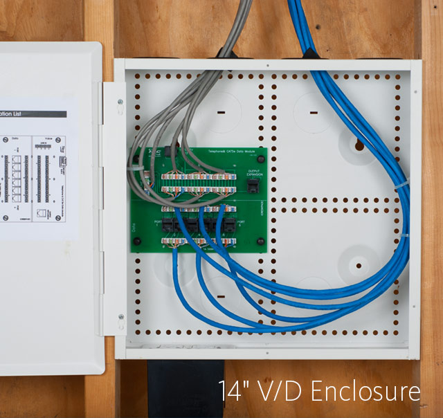 14-inch Voice and Data Residential Wiring Enclosure Combo