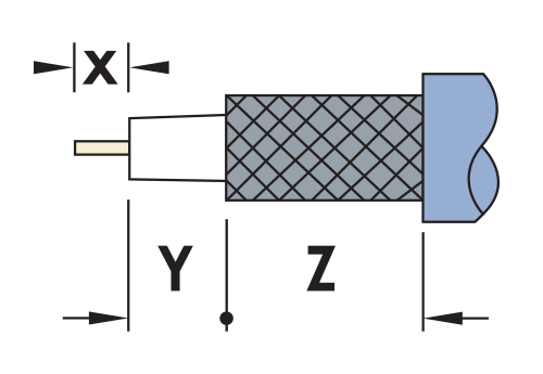 Stripping Lengths for Coax Cable Diagram