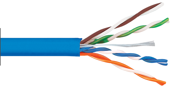 CAT6 500MHz Blue Riser Bulk Cable
