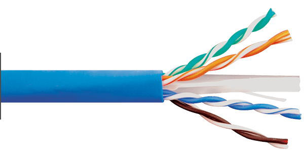 Box of CAT6e Blue Riser Bulk Cable