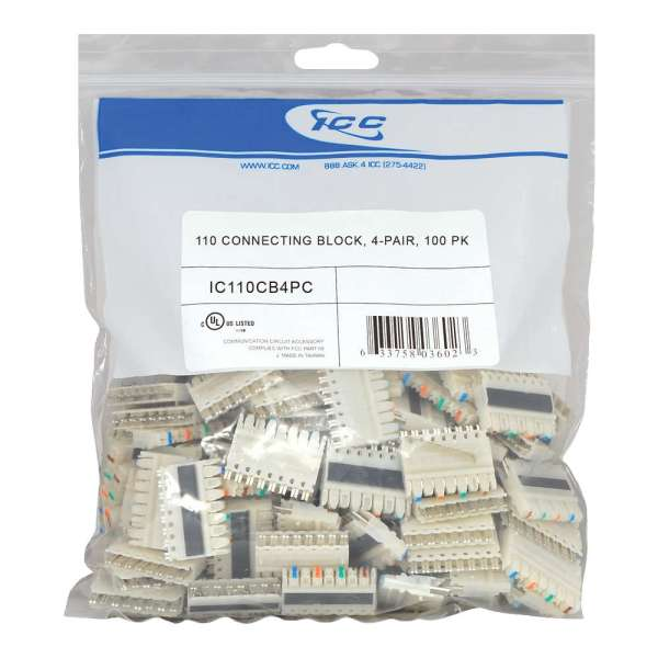 110 Connecting Block 4 Pair in 100 Pack - IC110CB4PC