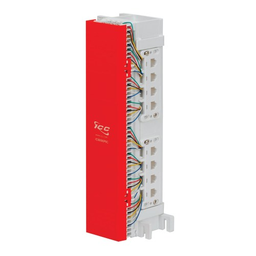 66 Wiring Block Pre-wired with 12 Data 8P8C Ports IC06628P8C