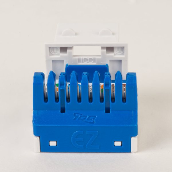 CAT5e RJ45 White Keystone Jack EZ Back IC1078E5WH