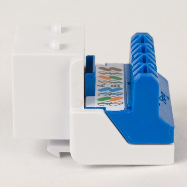 CAT5e RJ45 White Keystone Jack EZ Side IC1078E5WH