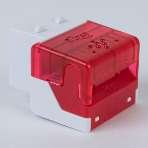 CAT6 RJ45 White Keystone Jack EZ Extra IC1078L6WH