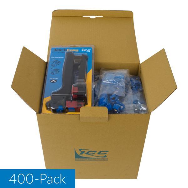 CAT5e RJ45 Blue Keystone Jack EZ IC107e5VBL 400 Pack with Jack