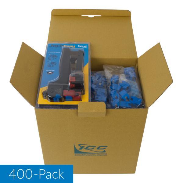 CAT5e RJ45 Blue Keystone Jack HD IC107F5VBL 400 Pack with Jack