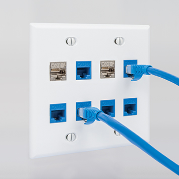 Work Area Outlets - Keystone Jacks and Faceplates