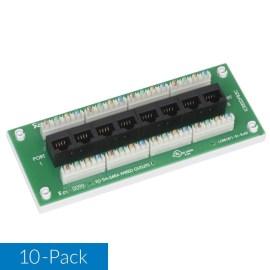 icresdpb2w-8-port-cat6-data-module-universal-mounting-base-10-pack