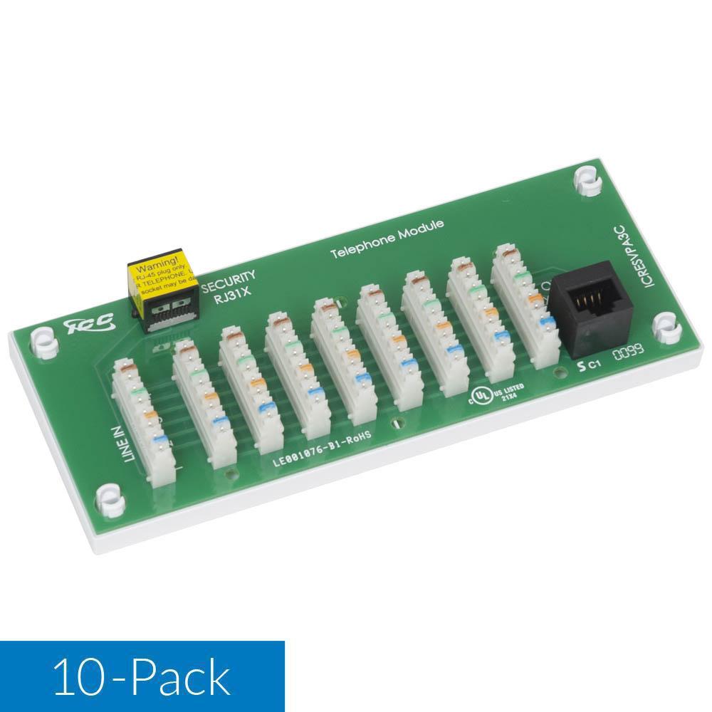 icresvpa2w-8-port-telephone-module-universal-mounting-base-10-pack