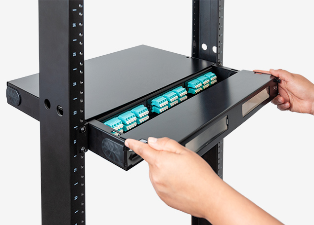 Fiber Optic Enclosure with LC-LC Adapter Panels