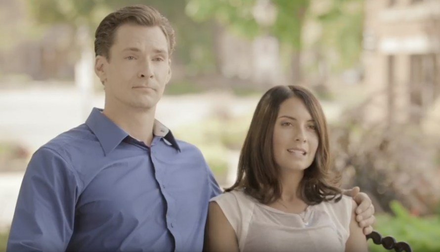 Image of young Caucasian couple.