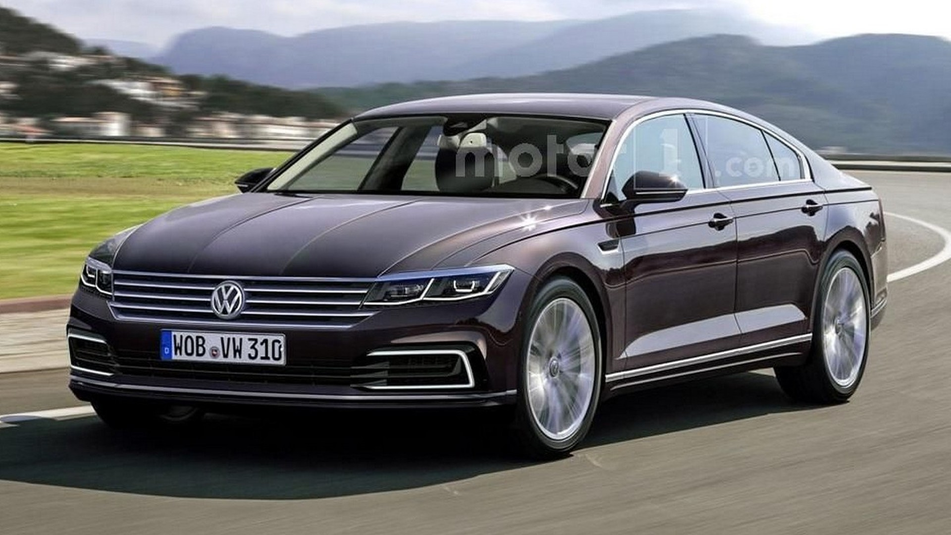 Next VW Phaeton Rendered But Wont Be Out Soon