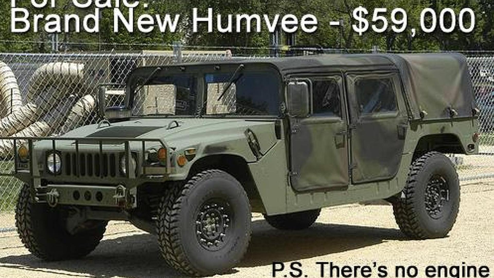 AM General will soon launch a build your own Humvee kit