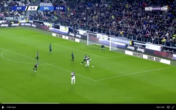 Video: Ronaldo hands Juventus lead vs Bologna with fine finish