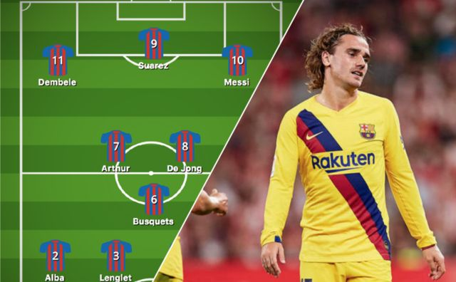 Valverde needs to drop in-form Griezmann and start Dembele - How Barcelona should line-up for CL clash vs Slavia Prague